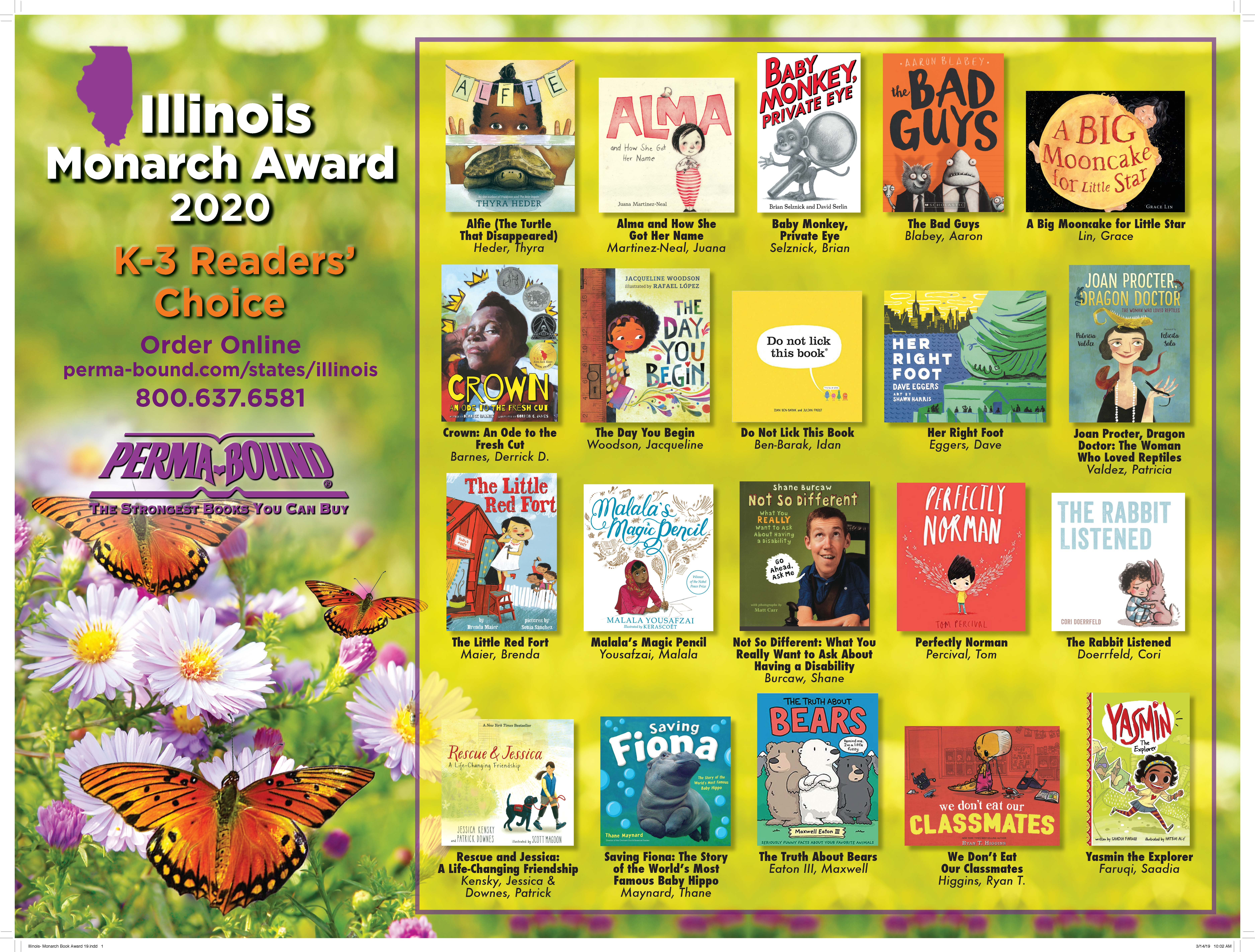 Illinois Monarch Award Poster 2019