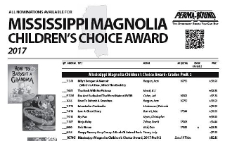 Mississippi Magnolia Children's Choice Award 17