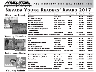 Nevada Young Readers 2017