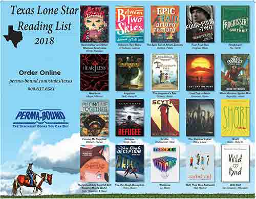 Texas Lone Star Reading List Poster 2018-2019