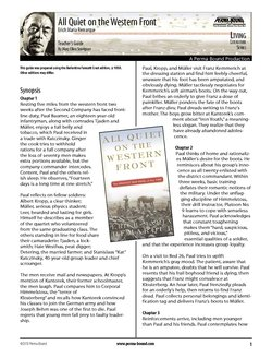 All Quiet on the Western Front Teacher's Guide